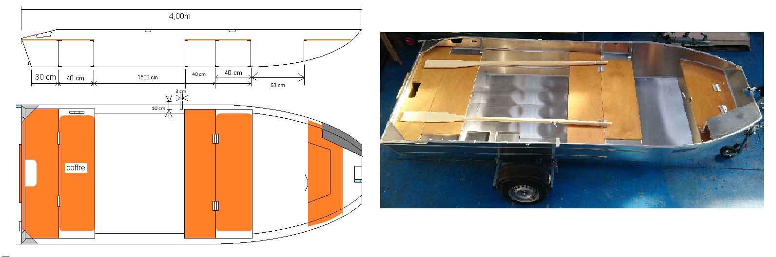 Barco de aluminio personalizable