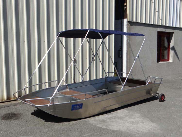 Barco de aluminio con fondo plano (6)