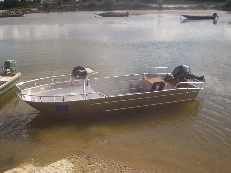 Barco de aluminio con fondo plano (4)