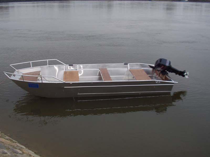 Barco de aluminio con fondo plano (5)