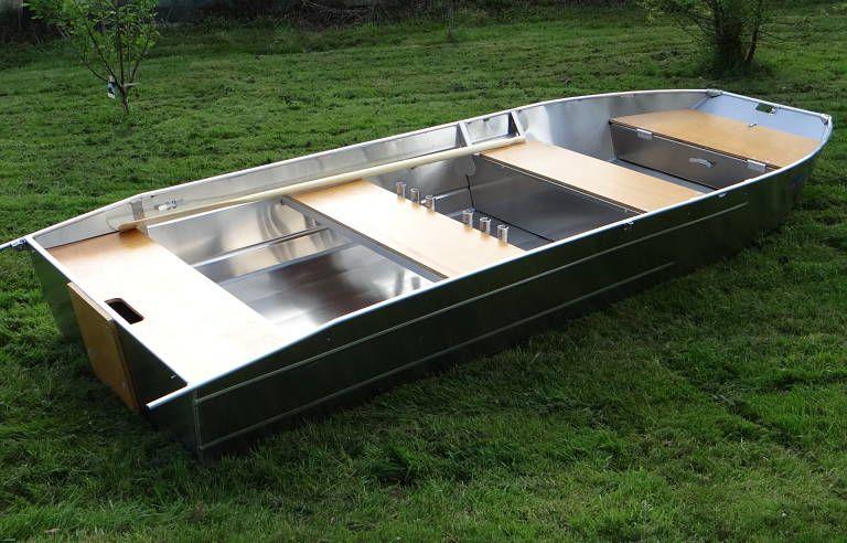 Barco de aluminio hecho a mano (3)